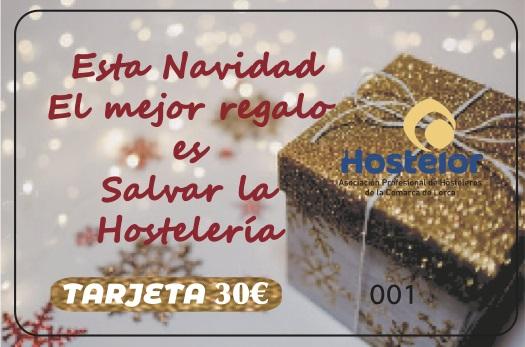 Hostelor les presenta su Tarjeta Navideña: «Este año el mejor regalo es salvar la hostelería»
